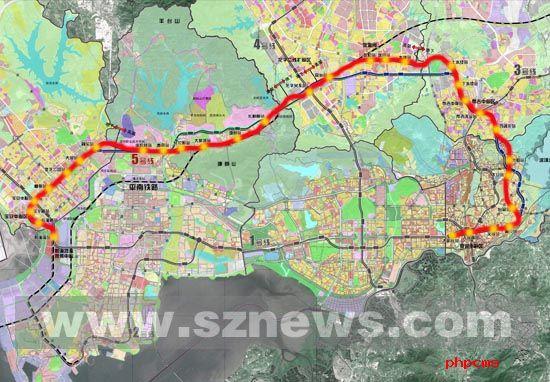 地铁5号线规划线路图-深圳地铁5号线线站位置作出重大调整图片