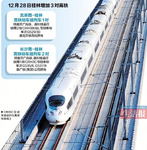 北京到桂林只需10小时