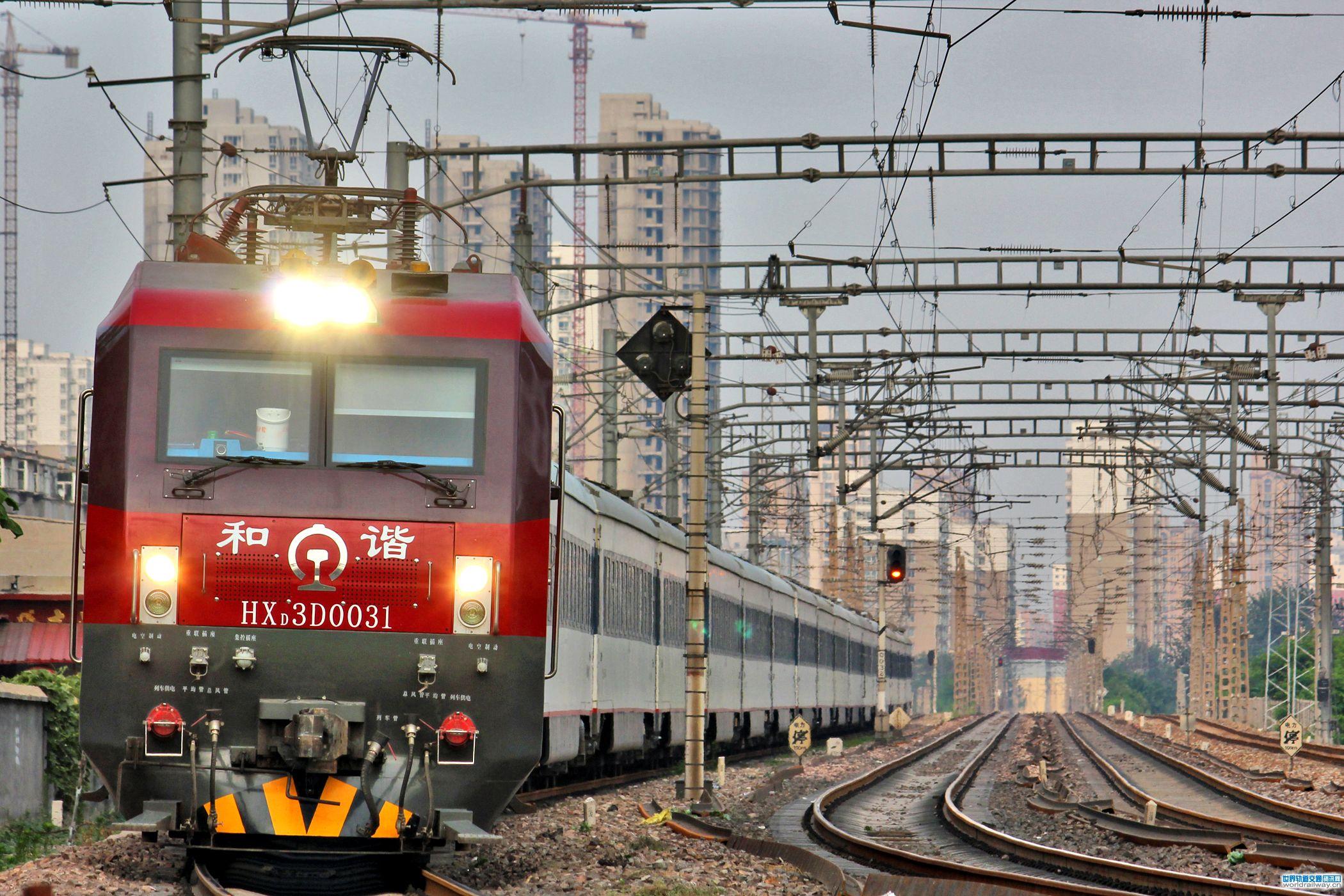 大连机车和谐3d型火车头 创我国铁路机车运行里程之最