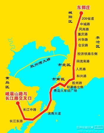 青岛地铁1号线线路走向基本确定
