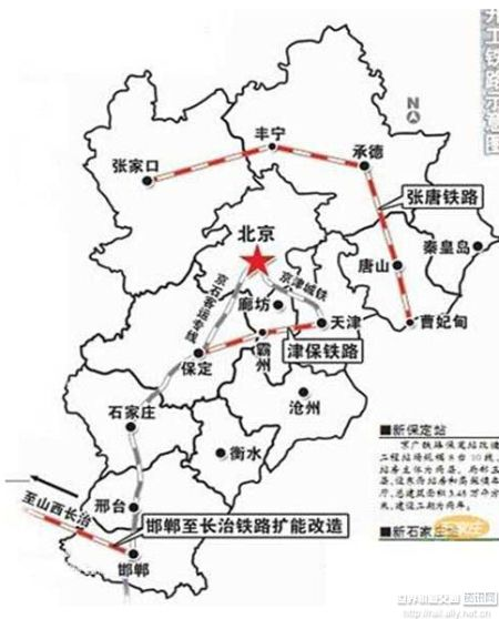 承德到秦皇岛铁路线地图