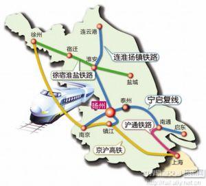 连淮扬镇铁路路线图-连淮扬镇铁路有望年内开工图片