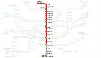 二号线南段(三爻站—韦曲南站)