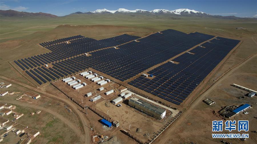 西藏那曲双湖县建成光伏电站
