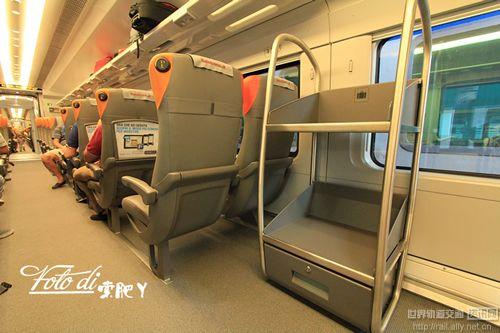 smart车厢里放箱子用的行李架, 车厢之间也有行李架.