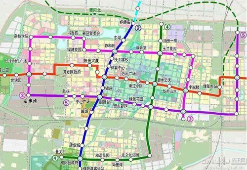 濮阳轨道交通规划曝光共计5条线设91座车站
