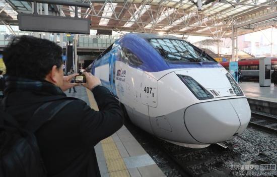 """韩国开通""""奥运高铁"""" 从仁川国际机场直达平昌"""