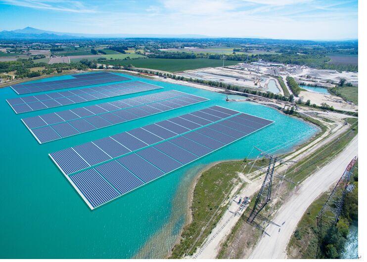 天合光能为法国太阳能漂浮电站供应组件