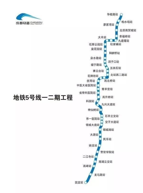 """成都地铁5号线一二期北段顺利完成""""电通"""""""