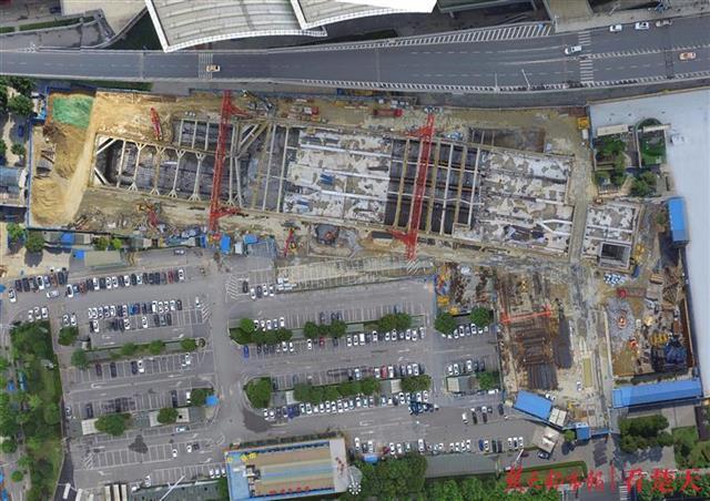 武汉地铁5号线武汉火车站主体结构将于本月底完工