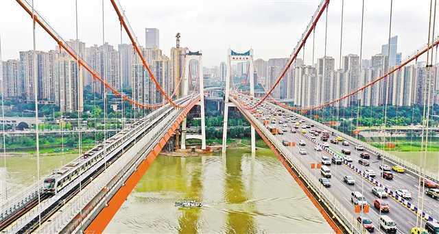 重庆鹅公岩轨道交通专用桥试运营